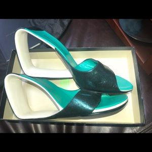 Showstopper Teal Sandals